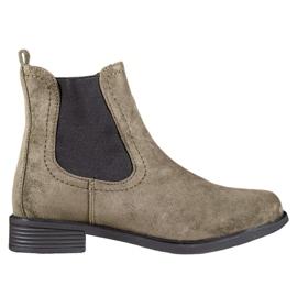 Ideal Shoes Botas casuales jodhpur verde