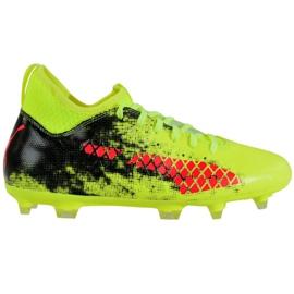 Botas de fútbol Puma Future 18.3 Fg Ag Jr 104332 01 verde negro, rojo, verde
