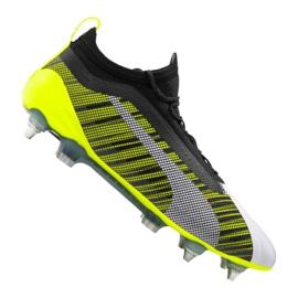Botas de fútbol Puma One 5.1 Mx Sg Fg M 105615-02 blanco, negro, amarillo multicolor