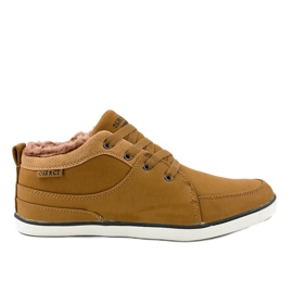 Zapatillas de hombre con aislamiento marrón 14M476