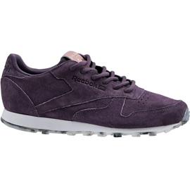 Zapatillas Reebok Classic Leather Shimmer W BD1520 púrpura