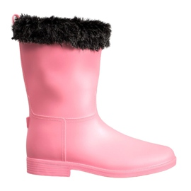 SHELOVET Wellingtons Con Pelaje rosa
