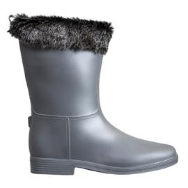 SHELOVET Wellingtons Con Pelaje gris