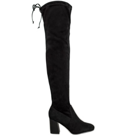 Filippo Elegantes botas sobre la rodilla negro