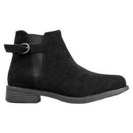 Ideal Shoes Botas de gamuza negro
