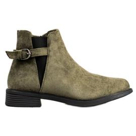 Ideal Shoes Botas de gamuza verde