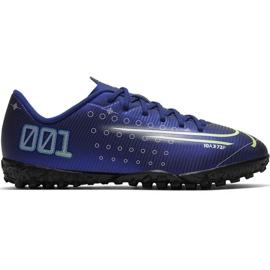 Zapatillas de fútbol Nike Mercurial Vapor 13 Academy Mds Tf Jr CJ1178 401 marina azul marino
