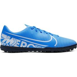 Zapatillas de fútbol Nike Mercurial Vapor 13 Club M Tf AT7999 414 azul azul
