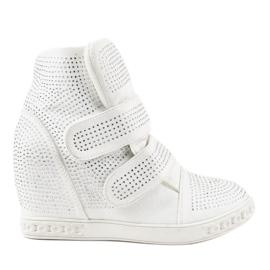 Zapatillas con cuña blancas KLS-112-3 blanco