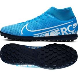 Zapatillas de fútbol Nike Mercurial Superfly 7 Club M Tf AT7980 414 negro negro, gris / plateado
