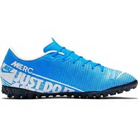 Zapatillas de fútbol Nike Mercurial Vapor 13 Academy M Tf AT7996 414 azul blanco, azul