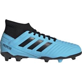 Adidas Predator 19.3 Fg Jr G25796 Calzado de fútbol azul negro azul