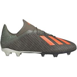 Zapatillas de fútbol Adidas X 19.2 Fg M EF8364 verde gris