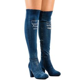 HX15135-96 jeans con rasgaduras marina