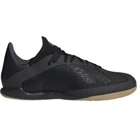 Adidas X 19.3 In M F35369 Calzado de fútbol negro negro