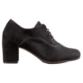 SHELOVET Zapatos de tacón con cordones negro