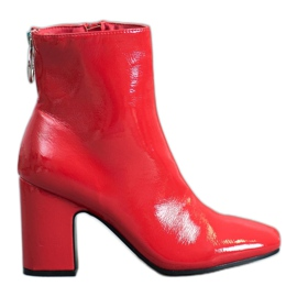Seastar Botines barnizados rojo