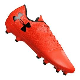 Zapatillas de fútbol Under Armour Magnetico Select Fg M 3000115-600 naranja rojo