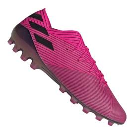 Zapatillas de fútbol Adidas Nemeziz 19.1 Ag Fg M FU7033 rosa rosa