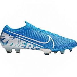 Zapatillas de fútbol Nike Mercurial Vapor 13 Elite Fg M AQ4176 414 blanco, azul azul