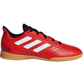 Adidas Predator Tango 18.4 Sala Jr DB2343 Calzado de fútbol rojo