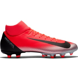 Zapatillas de fútbol Nike Mercurial Superfly 6 Academy CR7 Mg M AJ3541 600 negro naranja rojo