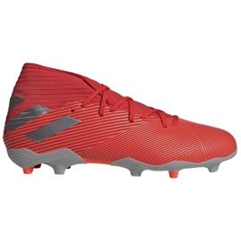 Zapatillas de fútbol Adidas Nemeziz 19.3 Fg M F34389 rojo, gris / plateado rojo