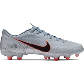 Zapatillas de fútbol Nike Mercurial Vapor 12 Academy Mg M AH7375 408 naranja, gris / plateado gris