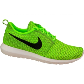 Nike Roshe Nm Flyknit M 677243-700 calzado verde