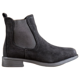 Ideal Shoes Botas casuales jodhpur negro