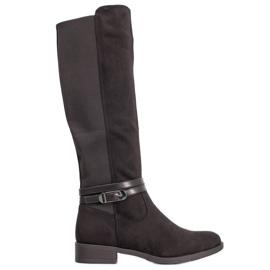 Super Me Elegantes botas con hebilla. negro