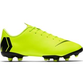 Zapatillas de fútbol Nike Mercurial Vapor 12 Academy Mg Jr AH7347 701 negro verde amarillo