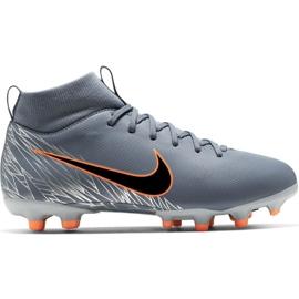 Zapatillas de fútbol Nike Mercurial Superfly 6 Academy Mg Jr AH7337 408 naranja, gris / plateado gris