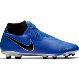 Zapatillas de fútbol Nike Phantom Vsn Academy Df FG / MG M AO3258 400 negro azul azul
