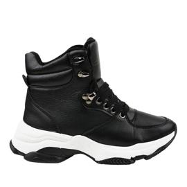 Zapatos deportivos negros con aislamiento para mujer C-3132