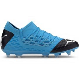 Zapatillas de fútbol Puma Future 5.3 Netfit Fg Ag M 105756 01 azul azul