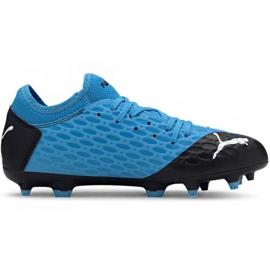 Zapatillas de fútbol Puma Future 5.4 Fg Ag Jr 105810 01 azul