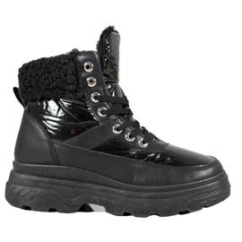 Bella Paris Zapatillas con piel de oveja negro