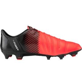 Zapatillas de fútbol Puma evoPOWER 1.3 Lth Fg M 103850 01 negro naranja naranja