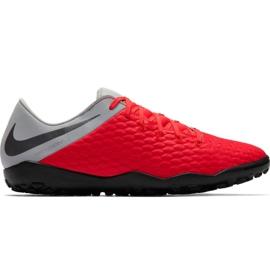 Zapatillas de fútbol Nike Hypervenom Phantom X 3 Academy Tf M AJ3815 600 negro, rojo, gris / plateado rojo