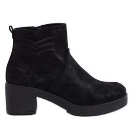 Botas negras de tacón negro K1822701 Negro