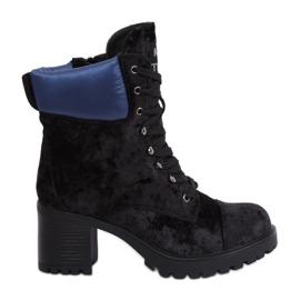 Botas de terciopelo negro K1835203 Negro