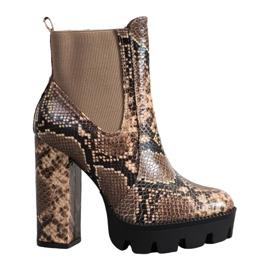 Seastar Estampado de serpiente de botas altas marrón