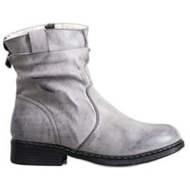 Super Me Botas vaqueras calientes gris