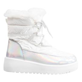 Bella Paris Botas de nieve de moda blanco