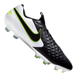 Zapatillas de fútbol Nike Legend 8 Elite Fg M AT5293-007 blanco negro negro