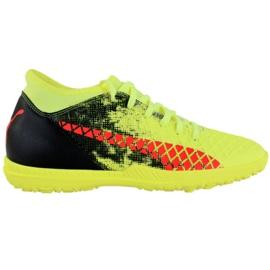 Zapatillas de fútbol Puma Future 18.4 Tt M 104339 01 amarillo negro, verde, naranja