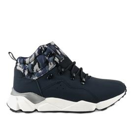 Zapatillas deportivas con aislamiento azul oscuro F33-2 marina