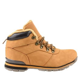 Botas de senderismo para hombre con aislamiento marrón 9185-3