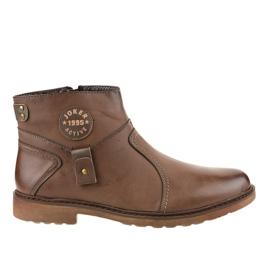 Zapatillas sin cordones marrones con aislamiento A20182-5 marrón